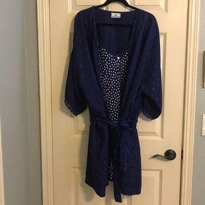 Maggie Lawrence Blue Polka Dot Robe